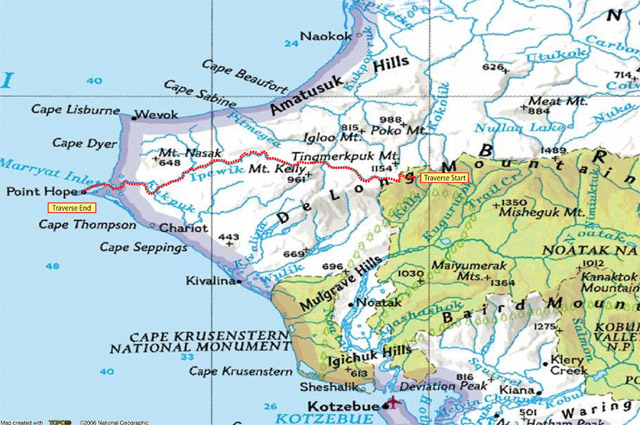 Lisburne overview map